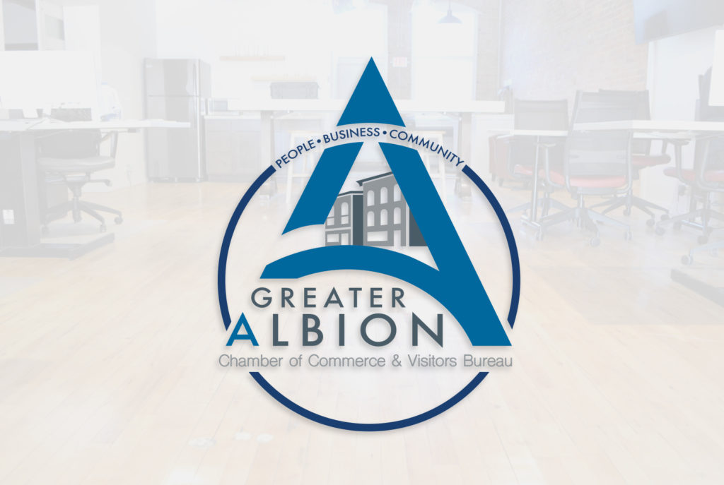 Greater Albion Chamber of Commerce Logo Badge | BrickStreet Marketing