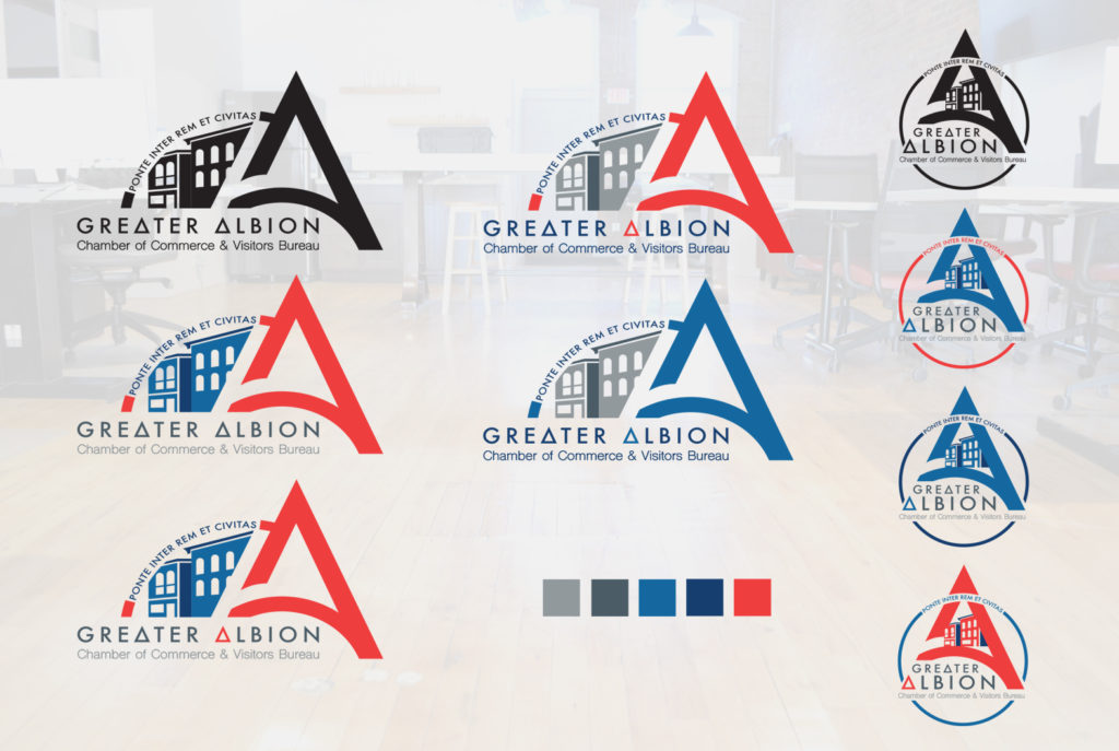 Greater Albion Chamber of Commerce Logo Development | BrickStreet Marketing