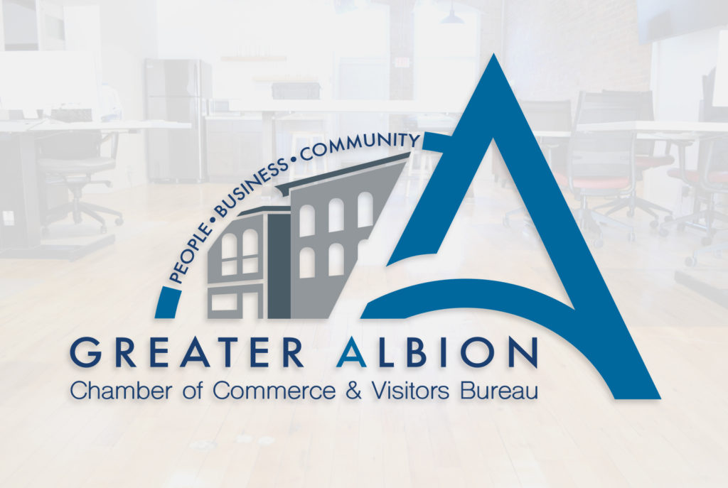 Greater Albion Chamber of Commerce Main Logo | BrickStreet Marketing