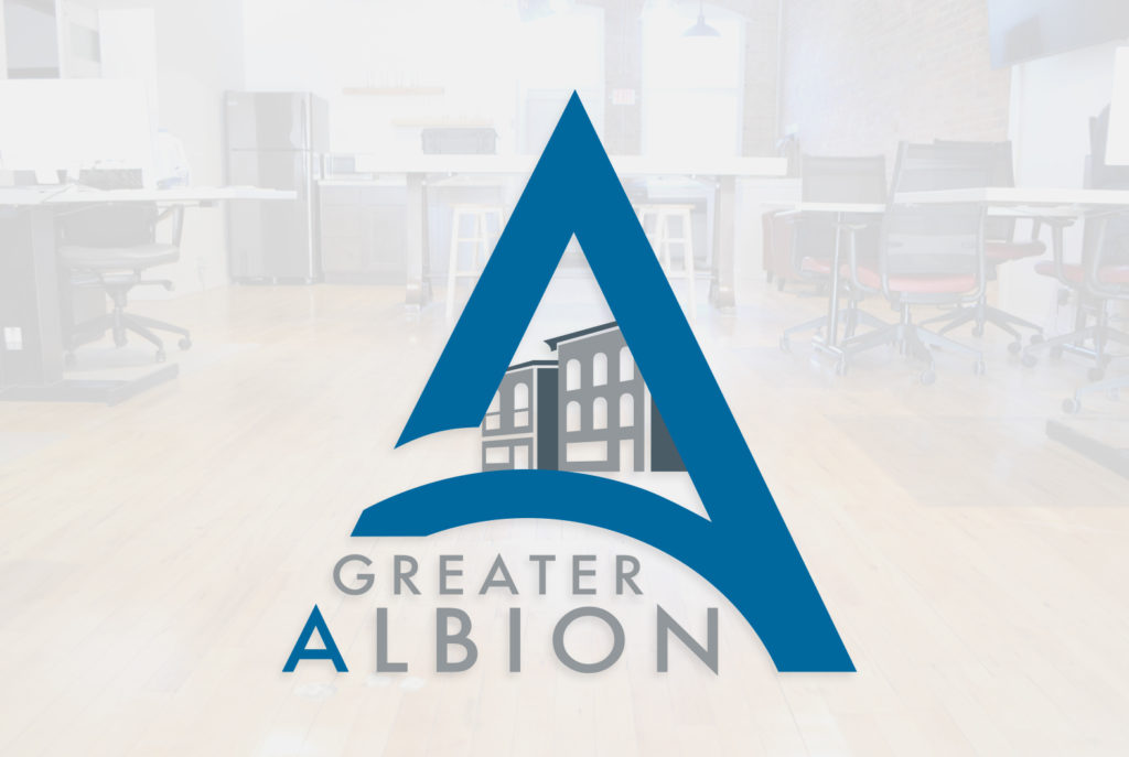 Greater Albion Chamber of Commerce Logo | BrickStreet Marketing
