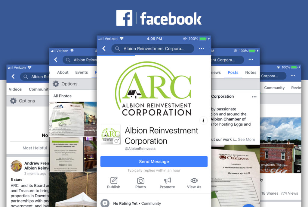 Albion Reinvestment Corporation Facebook | BrickStreet Marketing