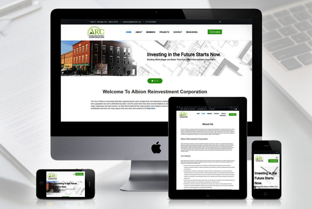 Albion Reinvestment Corporation Website | BrickStreet Marketing