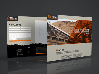 Trojan Sand & Gravel Web Design | BrickStreet Marketing