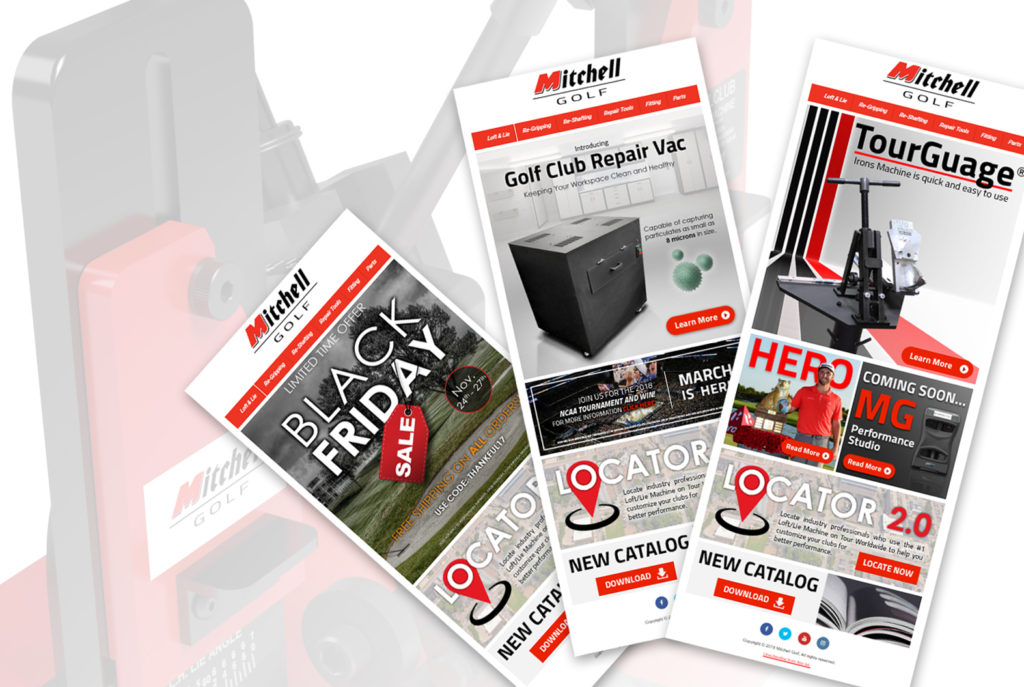 Mitchell Golf Newsletter Campaigns | BrickStreet Marketing