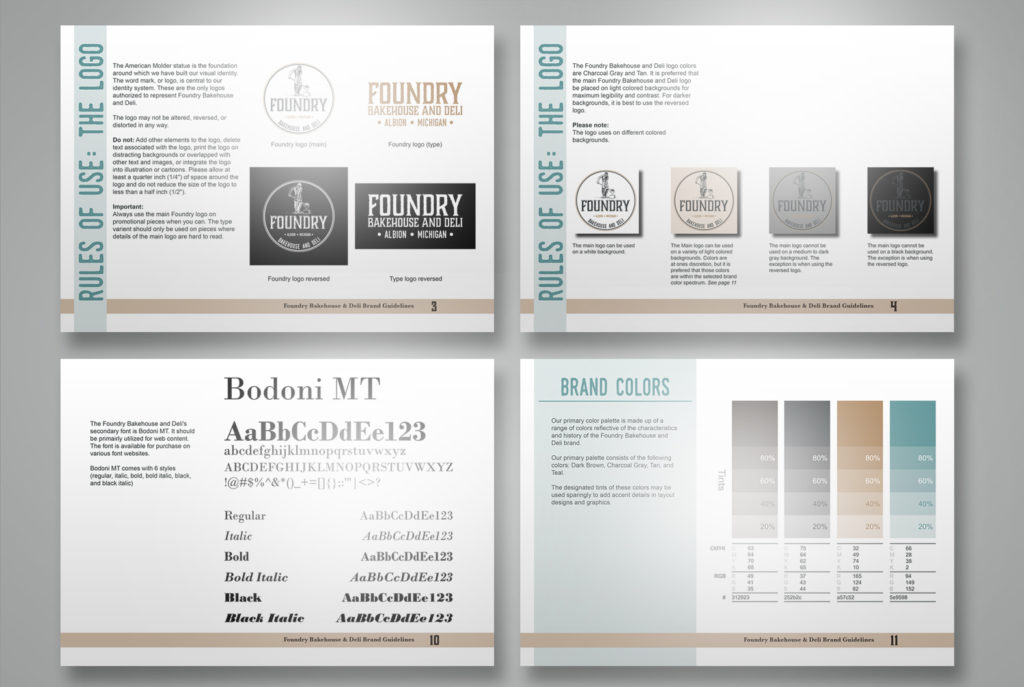 Foundry Bakery & Deli Brand Guidelines | BrickStreet Marketing